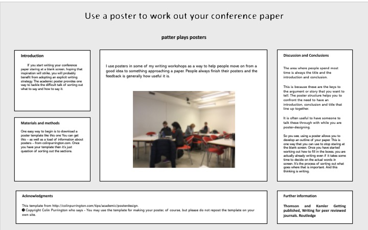 make a poster then write your paper | patter